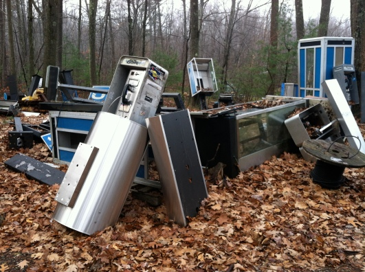 The Robert Frost Telephone Graveyard.