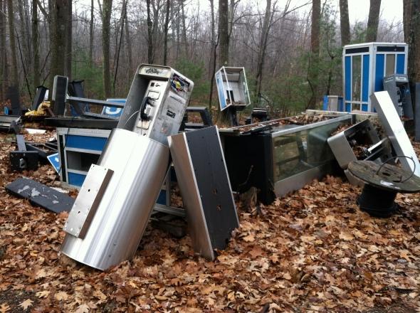 The Robert Frost Telephone Graveyard.