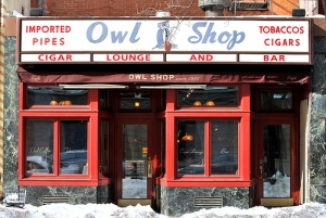 The Owl Shop, in New Haven, Connecticut.