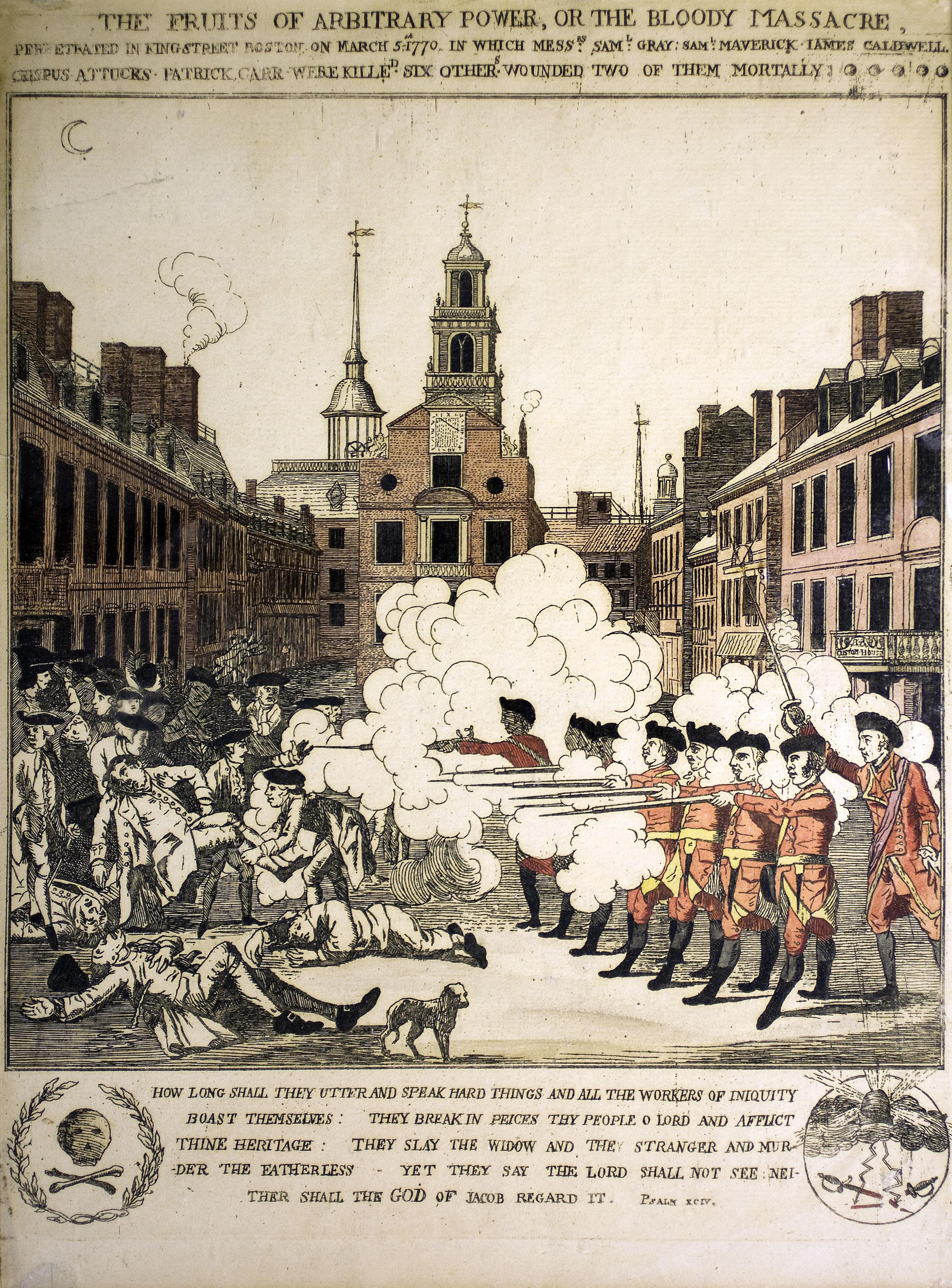 An eye witness to the boston massacre an armchair academic for The pelham