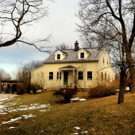 My home, built on farm land in the 1820s.