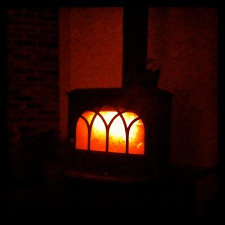 The stove at night.