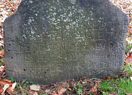 John Hale, 1738, Ashford, Connecticut.