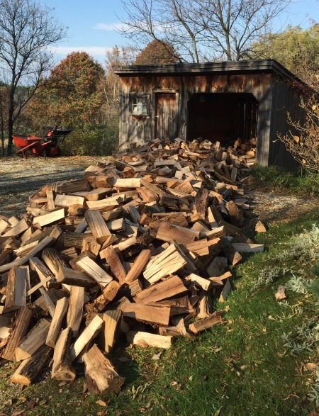 Delivery of firewood, fall 2015.